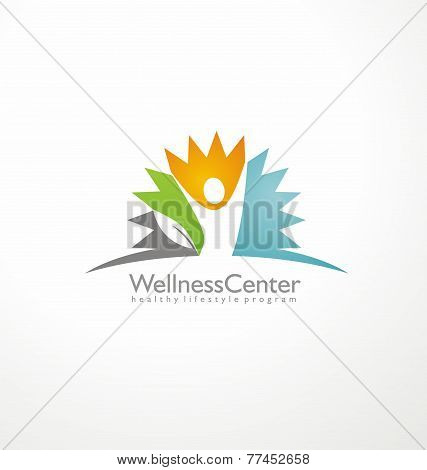 Wellness center logo design concept