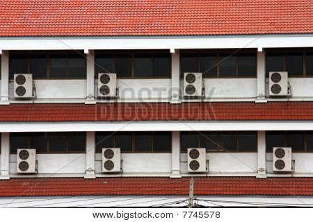 air-conditioner is a arrange on this building