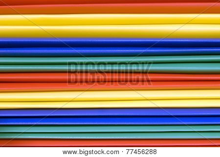 Close Up Brightly Colored Folders