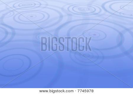 Rain drops creating ripples in water