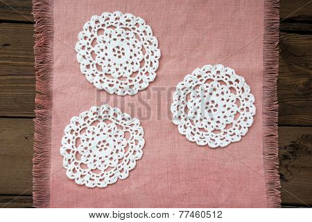 Three White Place Mat