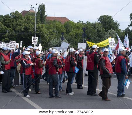 Protest in Bucharest Romania