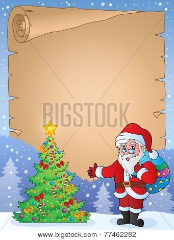 Christmas topic parchment 9 - eps10 vector illustration.
