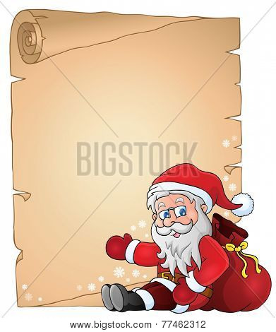 Christmas topic parchment 4 - eps10 vector illustration.