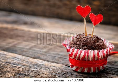 Chocolate Muffins For Valentine's Day