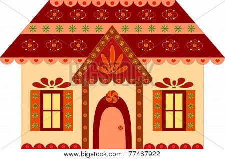 Isolated Gingerbread House