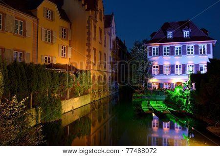 Colmar, France (little Venice) At Night