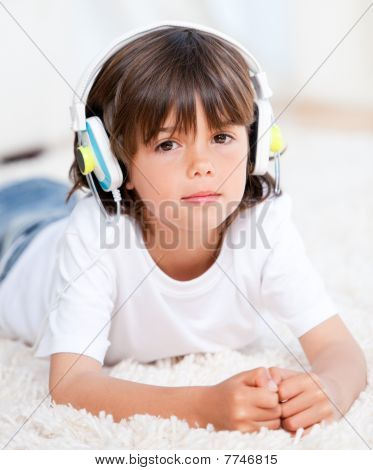 Relaxed Boy Listenning Music
