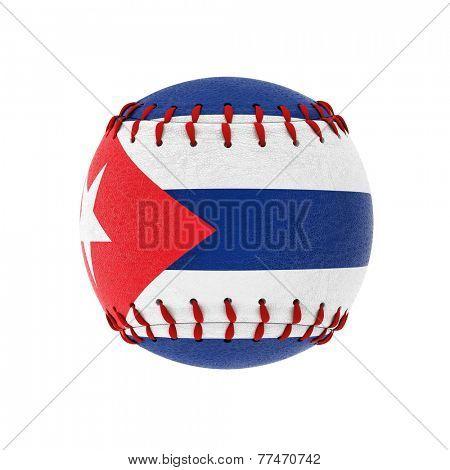 3d image of cuban baseball ball