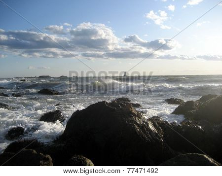 Rough Waters at Sakonnet Point