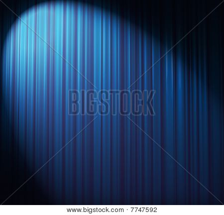 Ice-blue Curtain With Spot