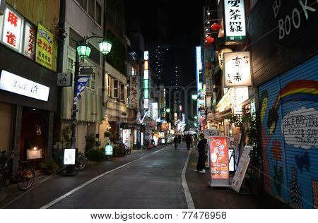 Tokyo, Japan - November 25, 2013: People Visit Commercial Street In The Kichijoji District