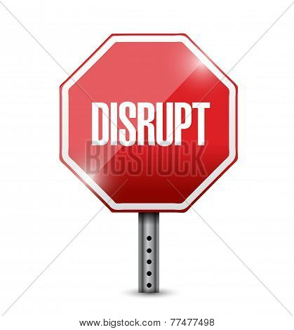 Disrupt Street Sign Illustration Design