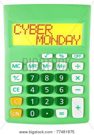 Calculator With Cyber Monday On Display Isolated