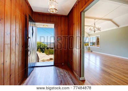 Entry Hallway With Open Door