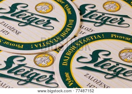 Beermats From Steiger Beer