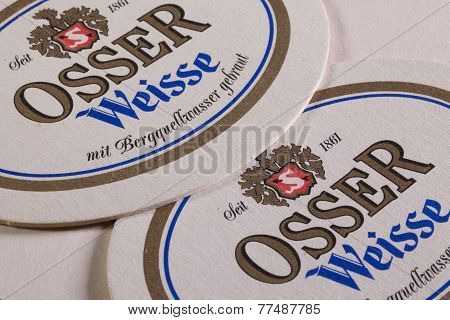 Beermats from Osser Weisse beer