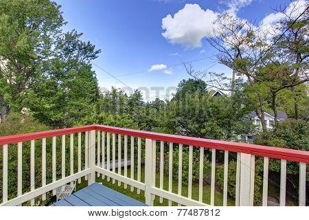 Walkout Deck With Backyard View