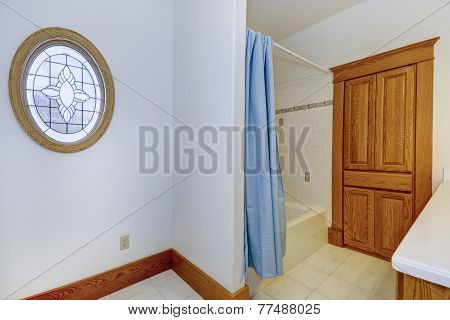 Bathroom Interior In Old American House
