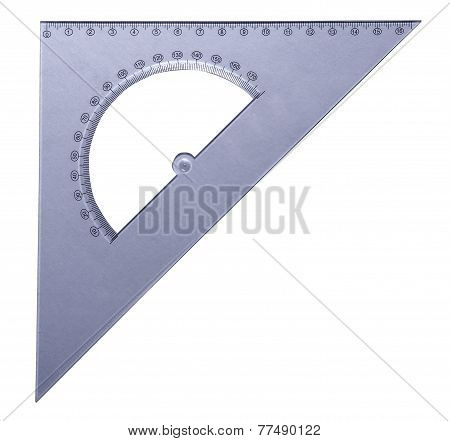 Transparent Triangle Protractor