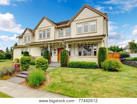 Large House With Curb Appeal