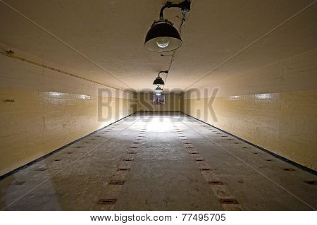 Nuclear Warheads Storage Room In Soviet Nuclear Weapon Bunker.
