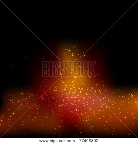 Magical Christmas Festive Particle Background