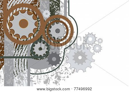 colorful decorative abstract of image mechanism
