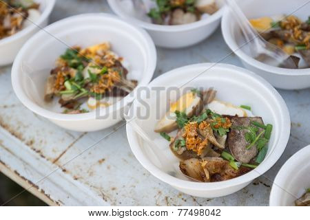 Boiled Entrails And Egg With Noodle