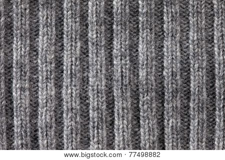 Gray Knitted Horizontal Textured Background