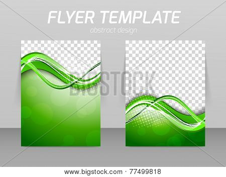 Abstract flyer template design
