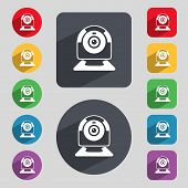 stock photo of video chat  - Webcam sign icon - JPG