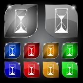 stock photo of sand timer  - Hourglass sign icon - JPG