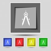 picture of mathematics  - Mathematical Compass sign icon - JPG
