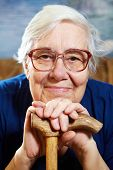 picture of retirement  - Senior woman with glasses portrait - JPG