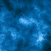 picture of wispy  - Brooding abstract blue background composed of indistinct cloud shapes - JPG