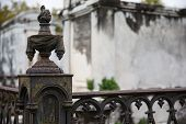 picture of wrought iron  - New Orleans Saint Louis Cemetery - JPG
