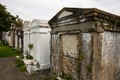pic of burial-vault  - Historic Saint Louis Cemetery in New Orleans - JPG