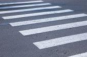 image of zebra crossing  - The Zebra crosswalk in thestreet of  city - JPG