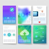 picture of booklet design  - Vector brochure design templates collection - JPG