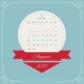picture of august calendar  - Calendar for 2015 - JPG