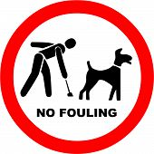 pic of dog poop  - Vector Illustration of the No Dog Fouling Symbol - JPG