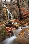 pic of waterfalls  - Waterfall in the autumn forest - JPG