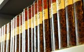 pic of law-books  - old books in a library bookshelf showing education concept - JPG