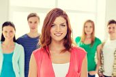 image of teenagers  - education and school concept  - JPG