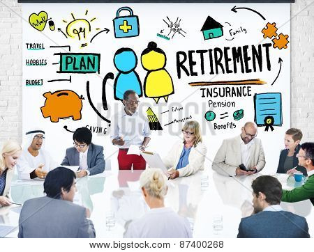 Diversity Casual People Employee Retirement Learning Discussion Concept