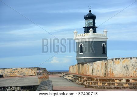 Lighthouse at Castillo San Felipe del Morro, San Juan