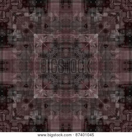 art deco ornamental vintage pattern, S.21, monochrome background in brown purple and black colors