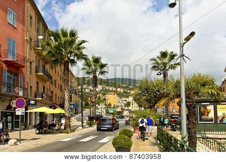 Street View Of The Old Town Of Grasse