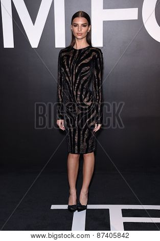 LOS ANGELES - FEB 20:  Emily Ratajkowski arrives to the Tom Ford Autumn/Winter 2015 Womenswear Collection Presentation  on February 20, 2015 in Hollywood, CA